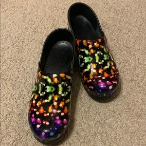Multi colored dansko shoes size 39